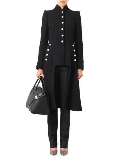 Alexander McQueen Cut-out front military coat