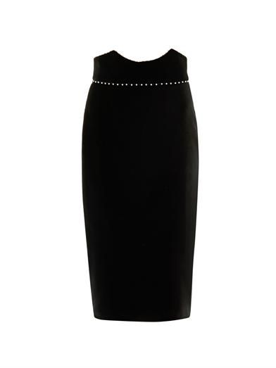 Alexander McQueen Velvet pencil skirt
