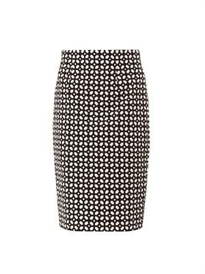 Bonded laser-cut pencil skirt