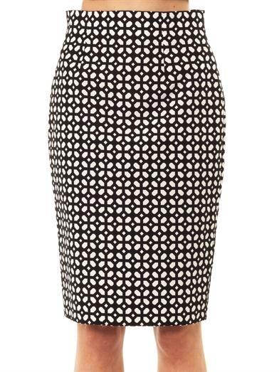 Alexander McQueen Bonded laser-cut pencil skirt