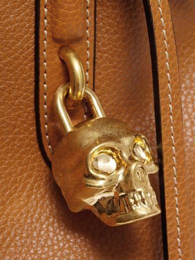 Alexander McQueen Padlock leather tote