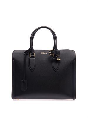 Heroine open-top leather tote