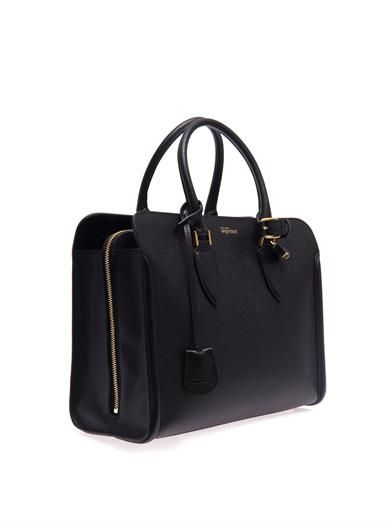Alexander McQueen Heroine open-top leather tote