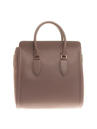 Alexander McQueen Heroine embossed leather tote