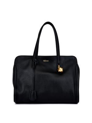 Padlock zip-around shoulder bag