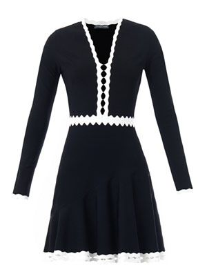 Cut-out contrast detail dress