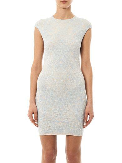 Alexander McQueen Spine crochet jacquard dress
