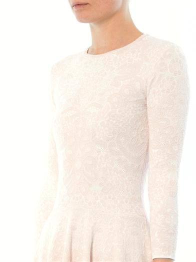 Alexander McQueen Spine crochet-knit dress