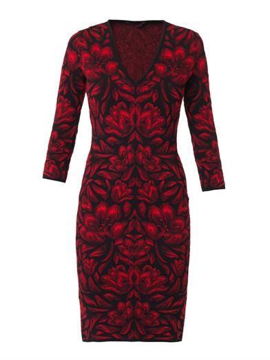 Alexander McQueen Tulip intarsia-knit dress
