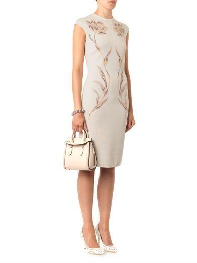 Alexander McQueen Floral-jacquard knit dress