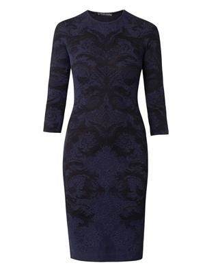 Baroque lace-jacquard dress