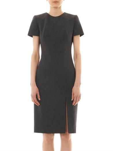 Alexander McQueen Wool-crepe shift dress
