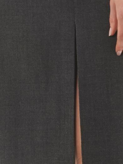 Alexander McQueen Wool-crepe shift dress