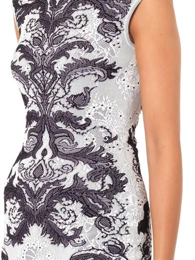 Alexander McQueen Spine lace-jacquard knit dress