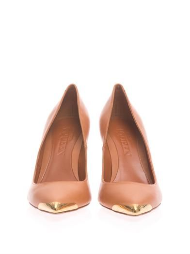 Alexander McQueen Metal toe-cap pumps