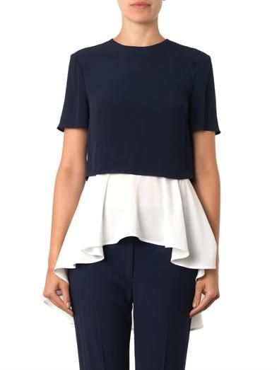 Alexander McQueen Layered crepe blouse
