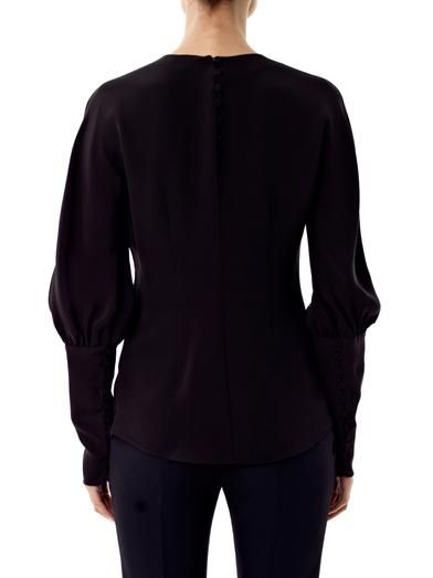 Alexander McQueen Glory star embellished silk blouse