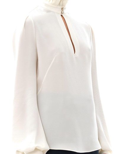 Alexander McQueen Pleated high-neck blouse
