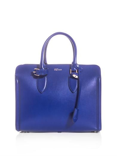Alexander McQueen Heroine open leather tote