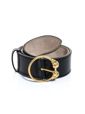 Twin skull buckle belt