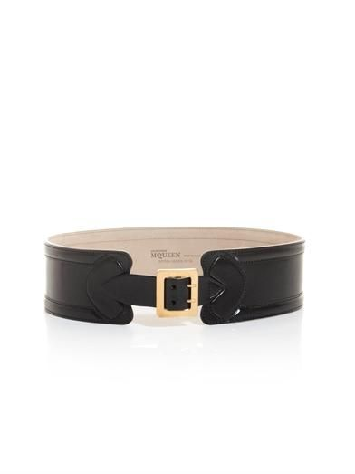 Alexander McQueen Wide leather waist belt