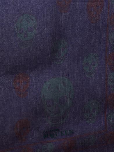 Alexander McQueen Skull-print chiffon scarf