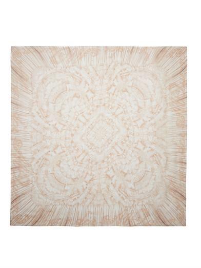 Alexander McQueen Ruffle-print silk-chiffon scarf