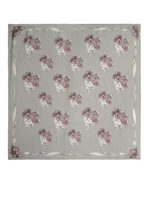Romantic skull-print silk scarf