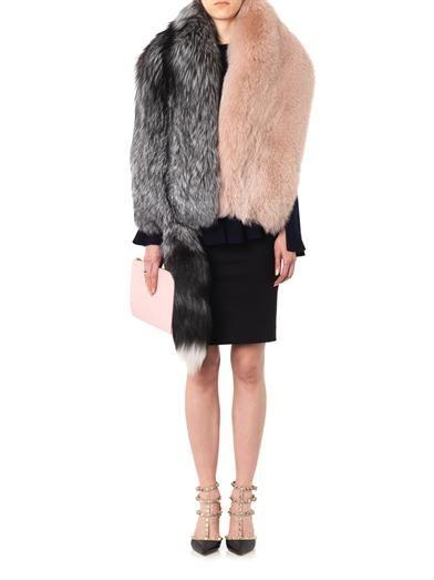 Alexander McQueen Bi-colour fur stole