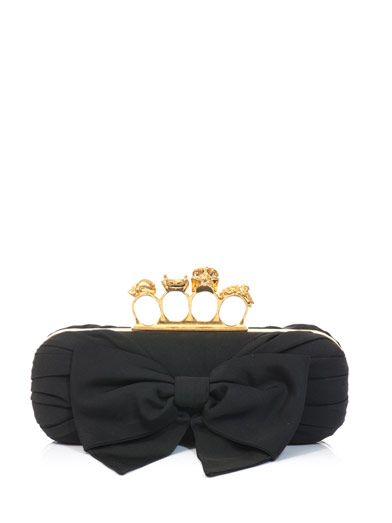 Alexander McQueen Bow front Knucklebox clutch
