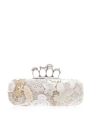 East West Knucklebox embroidered clutch