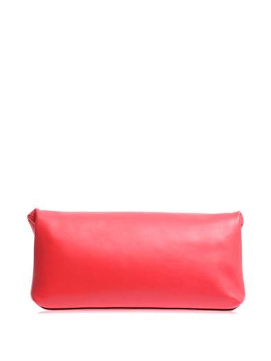 Alexander McQueen Padlock leather clutch