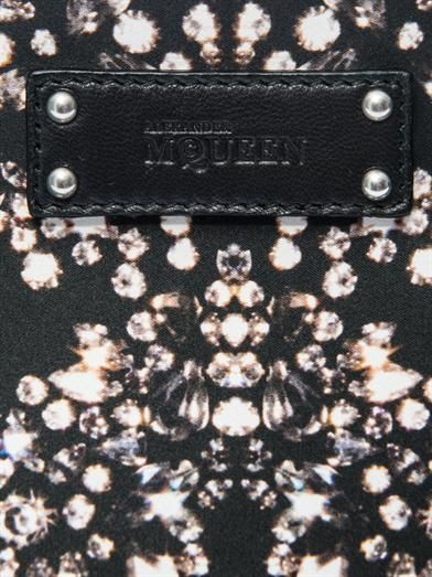 Alexander McQueen De Manta jewel-print satin clutch