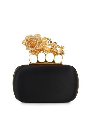 Knucklebox satin clutch