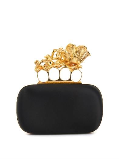 Alexander McQueen Knucklebox satin clutch