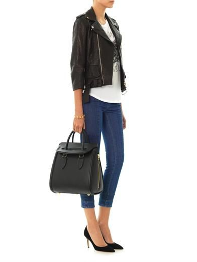 Alexander McQueen Patchwork mid-rise cropped jeans