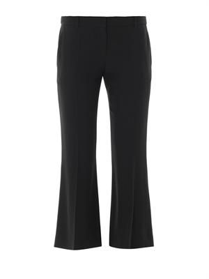 Tailored cropped flared trousers