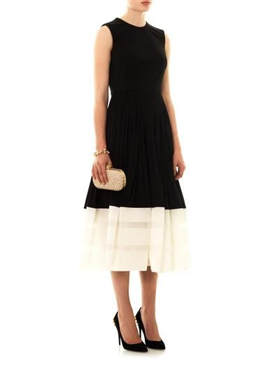 Alexander McQueen Organza hem pleated skirt dress