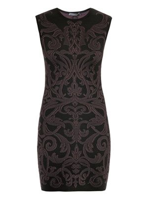 Fil coupé jacquard dress