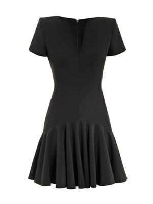 Fluted skirt mini dress