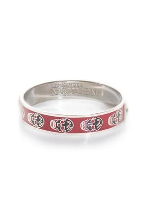 Enamel skull bangle