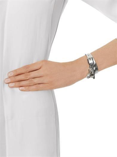 Alexander McQueen Double-wrap water snake bracelet