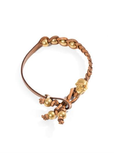 Alexander McQueen Plaited leather bracelet