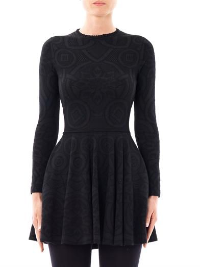 Alexander McQueen Graphic jacquard dress
