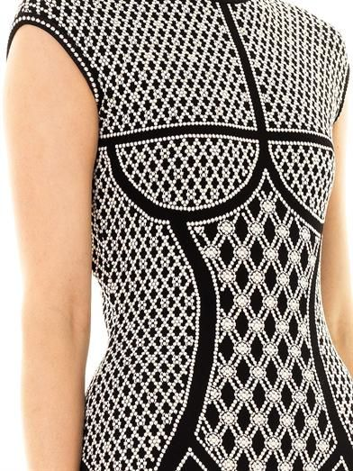 Alexander McQueen Pearl jacquard-knit dress