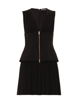 Corset stretch-crepe dress