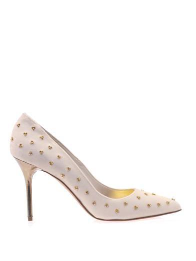 Alexander McQueen Velvet court shoes