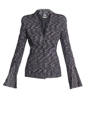 Fancy boucle tweed jacket