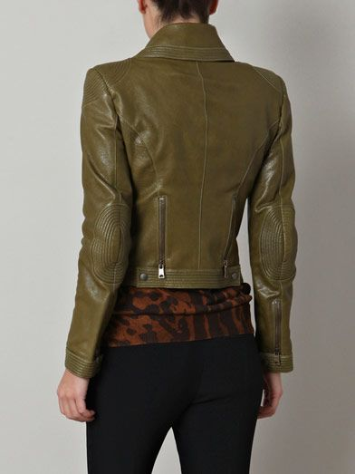 Alexander McQueen Quilted-detail leather jacket