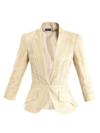 Alexander McQueen Lace built-in lapel jacket